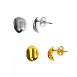 Stainless Steel 304 Earring Oval 9x11mm