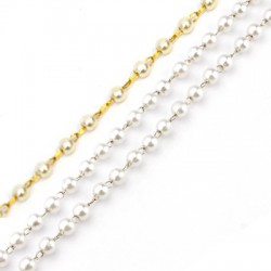 Stainless Steel 304 Chain w/ Pearl ABS 3mm