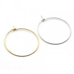Stainless Steel 304 Earring Round 30mm/07.mm