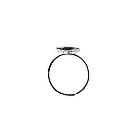 Anello in Acciaio Regolabile con Base Forata 12mm