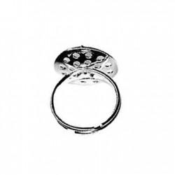 """Μεταλλικό Δαχτυλίδι Ατσάλι με Βάση """"Σουρωτήρι"""" 17mm"""