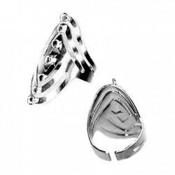 Μεταλλικό Δαχτυλίδι Ατσάλι 23x35mm