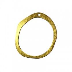 Pendentif cercle irrégulier en Aluminium 48x52mm