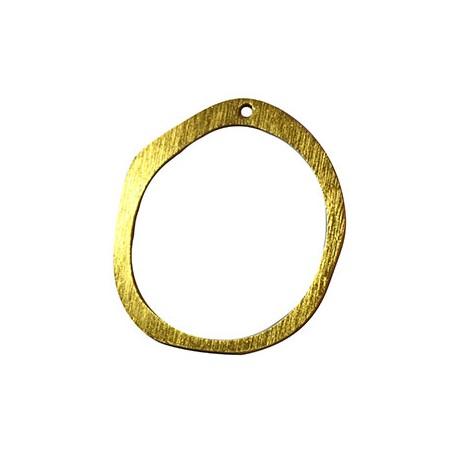 Aluminium Pendant Circle Irregular 48x52mm