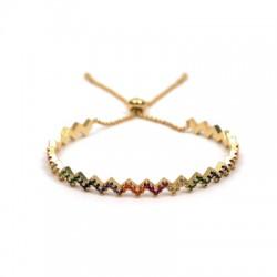 Brass Earring Bracelet w/ Zircon 58mm/5.5mm