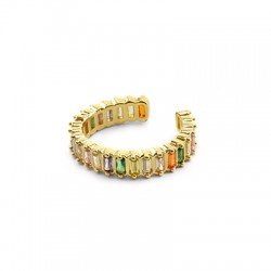 Brass Ring w/ Zircon 23mm