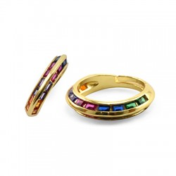 Brass Ring w/ Zircon 22mm