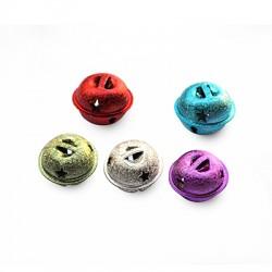 Μεταλλικό Κουδούνι Στρογγυλό Αστεράκια 24x20mm