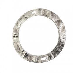 Brass Pendant Circle 2 Holes 60mm