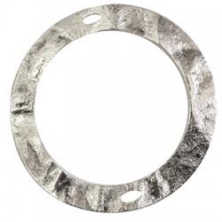 Brass Pendant Circle 2 Holes 80mm