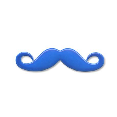 Zamak Painted Casting Pendant Moustache 45x12mm
