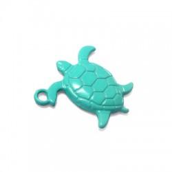 Zamak Painted Casting Charm Turtle 21x24mm