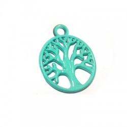 Zamak Painted Casting Charm Tree of Life 18mm