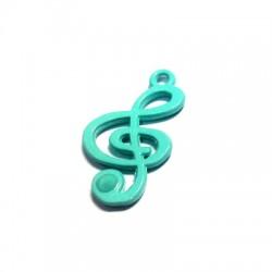 Μεταλλικό Ζάμακ Χυτό Χρωματιστό Μοτίφ Κλειδί του Σολ 26x15mm