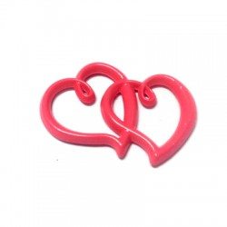 Zamak Painted Casting Connector Hearts 31x22mm