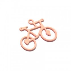 Μεταλλικό Ζάμακ Χυτό Χρωματιστό Μοτίφ Ποδήλατο 24x39mm