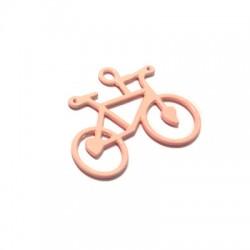 Zamak Painted Casting Pendant Bike 24x39mm