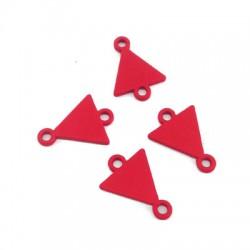 Intercalaire triangle en Métal/Zamak couvert de Caoutchouk 10x12mm