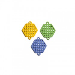 Zamak Rubber Effect Connector Hexagon 19x17mm
