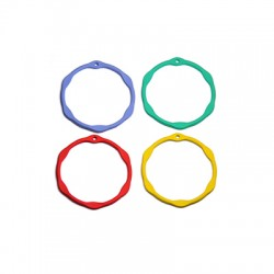Zamak Rubber Effect Pendant Circle 32mm