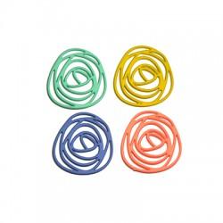 Zamak Rubber Effect Pendant Circles 30x32mm