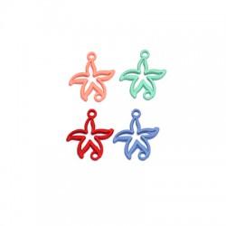Zamak Rubber Effect Connector Starfish 16x18mm