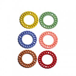 Μεταλλικό Ζάμακ Χυτό Στοιχείο Κύκλος Επικάλυψη Καουτσούκ20mm