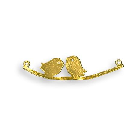 Ciondolo in Ottone Coppia Uccelli su Ramo 10.5x43mm
