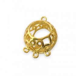 Brass Cast Ball with 3 rings 17x13mm