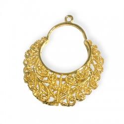 Brass Cast Filigree Earring 38,5x26mm