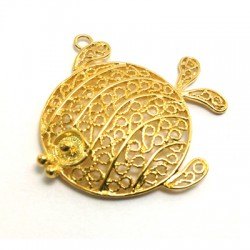 Brass Cast Filigree Fish 34x33mm