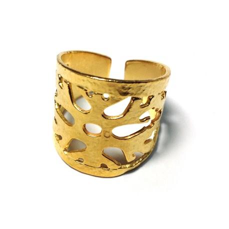 Μεταλλικό Ορειχάλκινο (Μπρούτζινο) Δαχτυλίδι 60x22mm