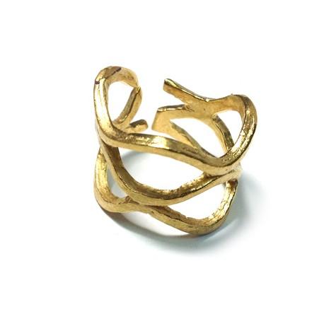 Μεταλλικό Μπρούτζινο Χυτό Δαχτυλίδι Σεβαλιέ 60x13mm