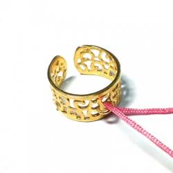 Μεταλλικό Μπρούτζινο Χυτό Δαχτυλίδι Σεβαλιέ & Κρίκο 55x8mm