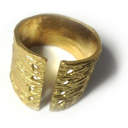 Brass Cast Ring for Cord w/ 8 holes