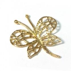 Brass Cast Butterfly 38x44mm