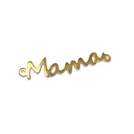 """Μεταλλικό Μπρούτζινο Χυτό Στοιχείο """"Mama"""" για Μακραμέ 35x7mm"""