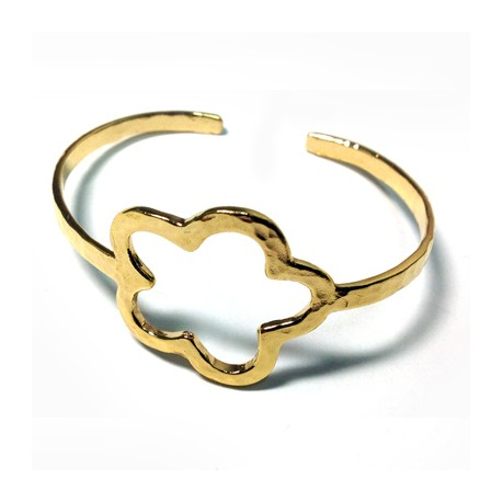 Brass Cast Bracelet Flower 28mm