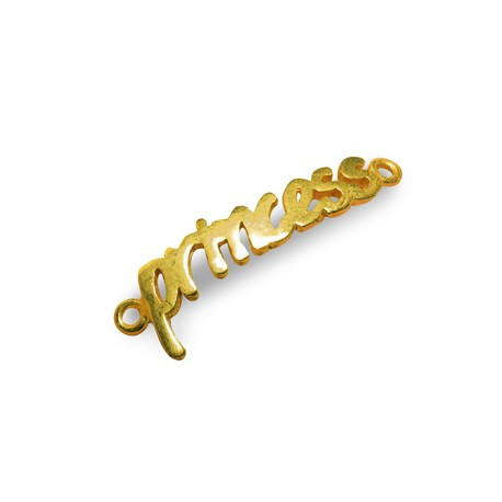Μεταλλικό Μπρούτζινο Στοιχείο 'princess' για Μακραμέ 32x9mm