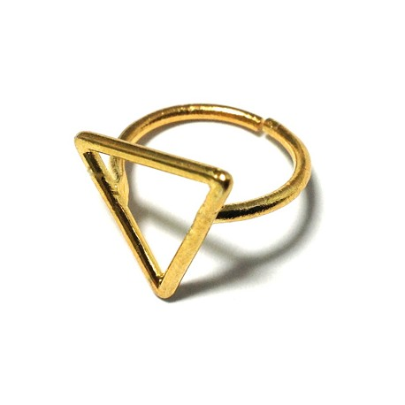 Brass Cast Finger Ring Triangle 15mm