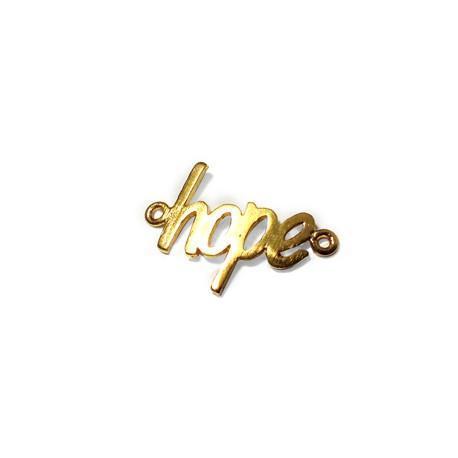 Brass Cast 'hope' 21x14mm
