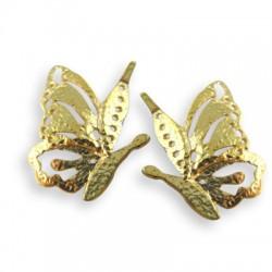 Ciondolo in Ottone Coppia di Farfalle 20x30mm