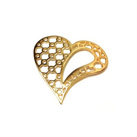 Brass Cast Heart 46mm