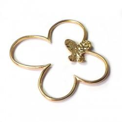 Brass Cast Double Butterfly 54x54mm