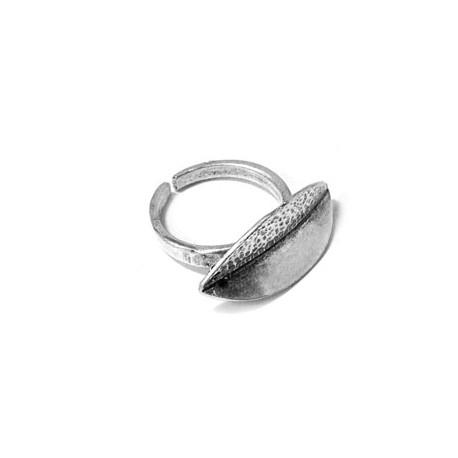 Μεταλλικό Μπρούτζινο Χυτό Δαχτυλίδι Φύλλο 27x11mm