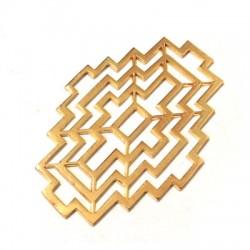 Brass Cast Pendant Filigree Cross 46x29mm