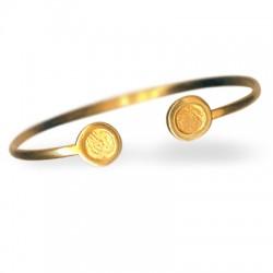 Brass Cast Bracelet 65mm with SS34 Flatback Settings