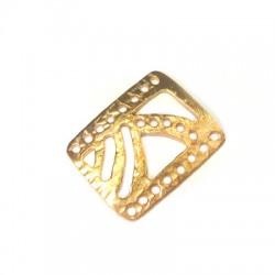 Brass Cast Connector Rectangular 15x21mm (Ø 1.2mm)