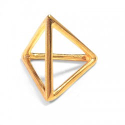 Brass Casting Charm Pyramide 20mm