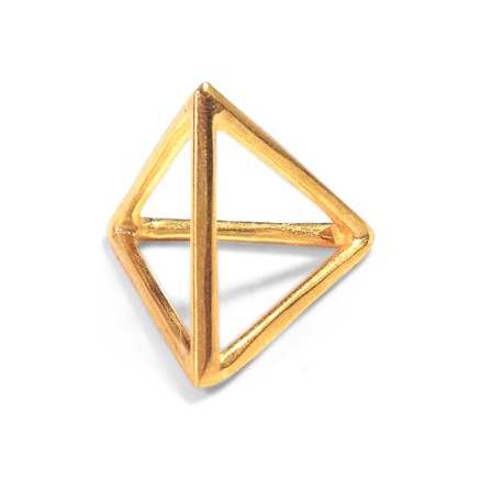 Charm in Ottone Piramide 20mm